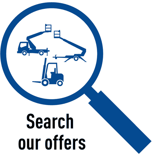 search working platforms, emergency vehicles, telehandler and forklifts